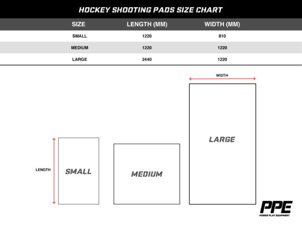 Hockey Shooting Pads Size Chart